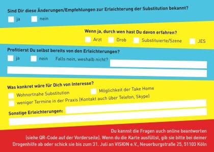 Postkartenaktion: Umfrage zur erleichterten Substitution