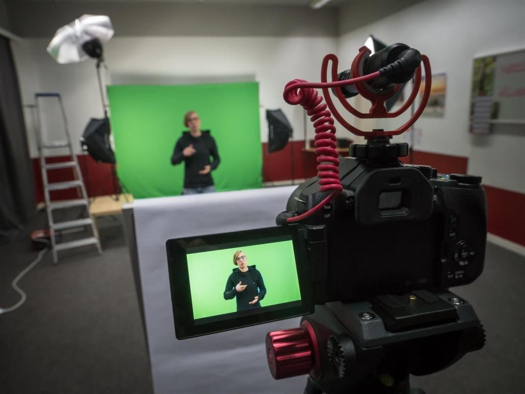 Kameraaufbau im Studio